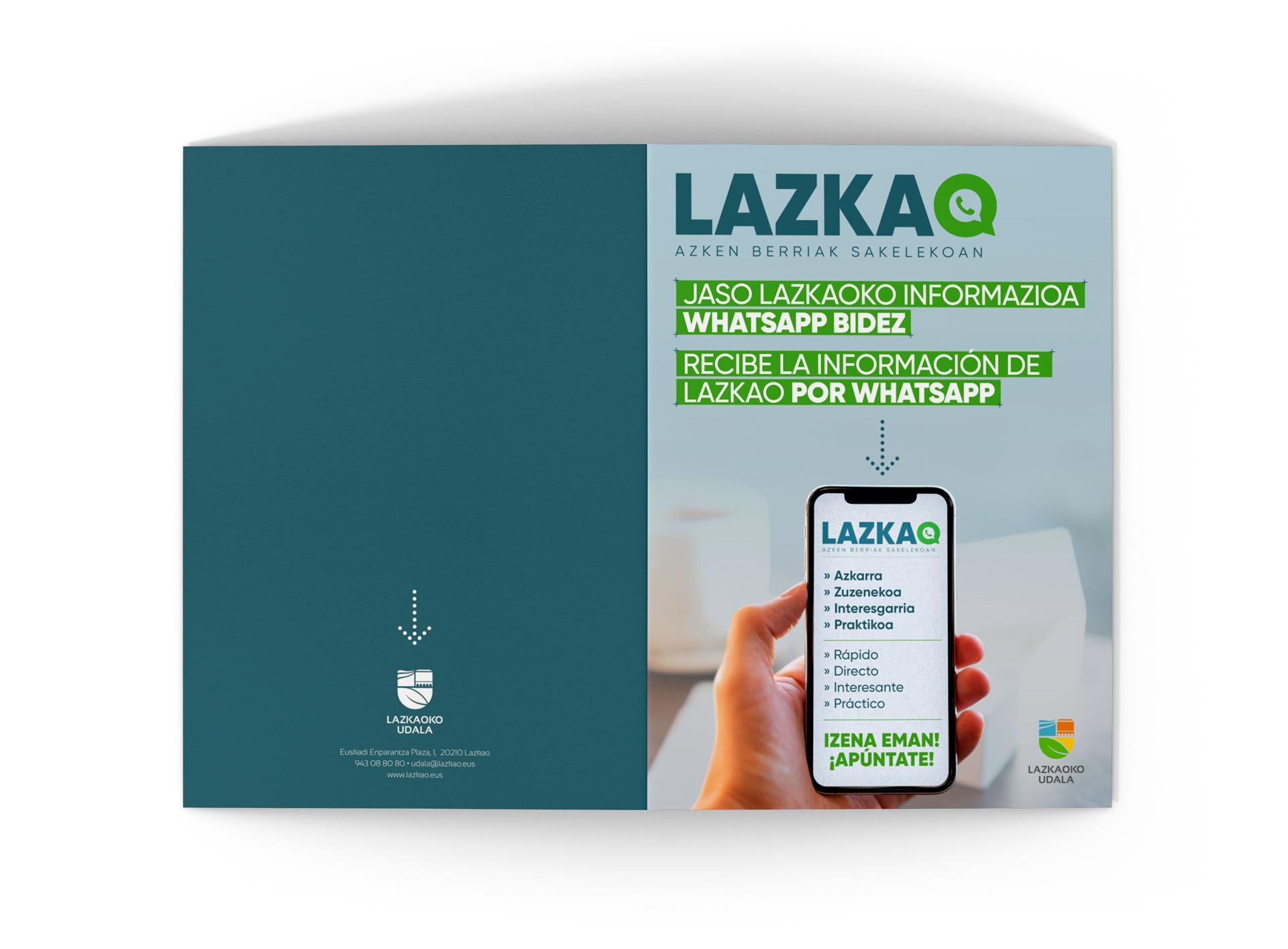 Lazkao whatsapp folleto exterior